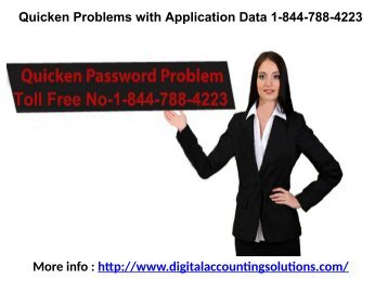 Quicken Problems with Application Data 1-844-788-4223