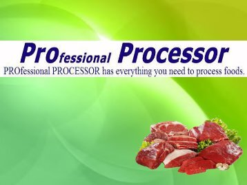 Meat Processing Equipment: Proprocessor.com