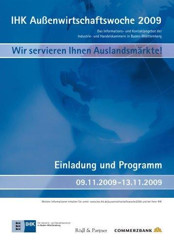 Einladung und Programm IHK Außenwirtschaftswoche 2009