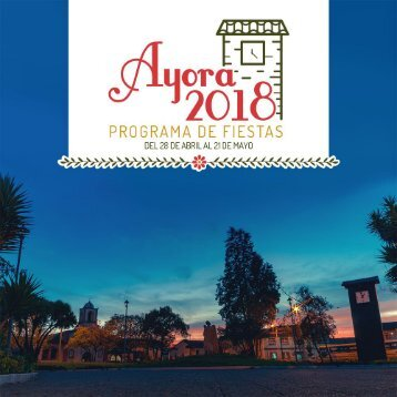 Programa de Fiestas Ayora 2018
