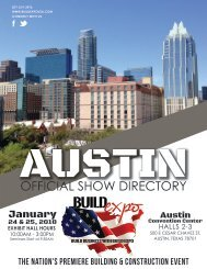 Austin 2018 Build Expo Show Directory