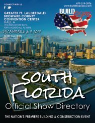 South Florida 2017 Build Expo Show Directory