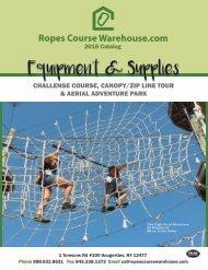 Ropes Course Warehouse Catalog 2018