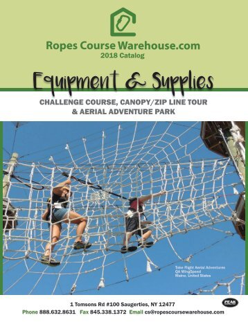 Ropes Course Warehouse Catalog 2018