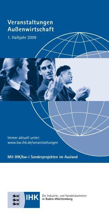 Wir servieren Ihnen Auslandsmärkte - Baden-Württembergischer ...