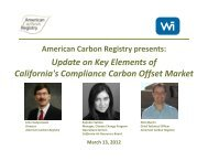 Update on Key Elements of California's Compliance Carbon Offset ...