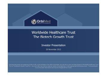 Investor Presentation November 2012 - Frostrow