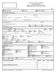 Printing Service Request Form - Information Management & Services