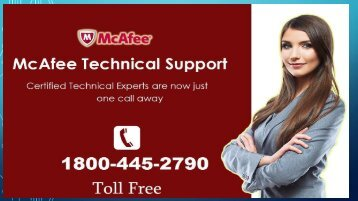 McAfee Toll Free 1800-445-2790  Mcafee Support phone Number