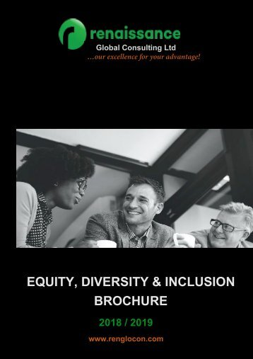 Equity, Diversity and Inclusion - Brochure
