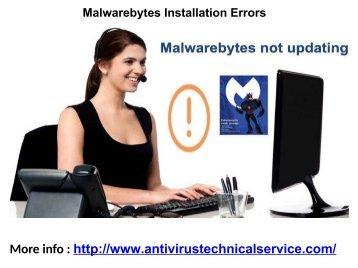 Malwarebytes Installation Errors