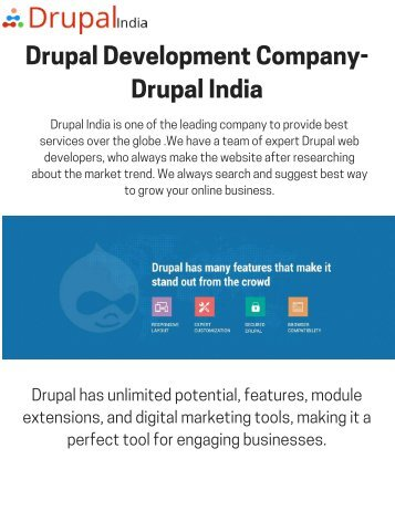 Drupal Development Company- Drupal India