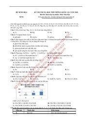 Bộ đề thi thử THPTQG năm 2018 - Môn Hóa học - Luyện đề chuẩn bị kỳ thi THPT 2018 - 29 ĐỀ MINH HỌA + ĐÁP ÁN