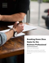 Shoe Styles for the Business Professional