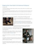 Shoe Styles for the Business Professional - Page 2