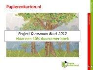Duurzaam Boek - Kenniscentrum Papier & Karton
