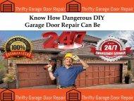 Know about Garage Door Repair