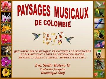 PAYSAGES MUSICAUX DE COLOMBIE  FR