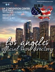 Los Angeles 2017 Build Expo Show Directory