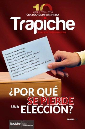 REVISTA TRAPICHE | ABRIL  2018 | UNA DÉCADA INFORMANDO