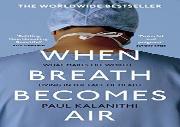 Audiobook When Breath Becomes Air For Free