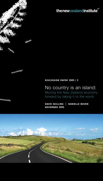 No country is an island: - New Zealand Institute