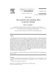 The masked onset priming effect in picture naming - Niels O. Schiller