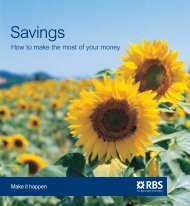 Savings - how to make the most of your - RBS
