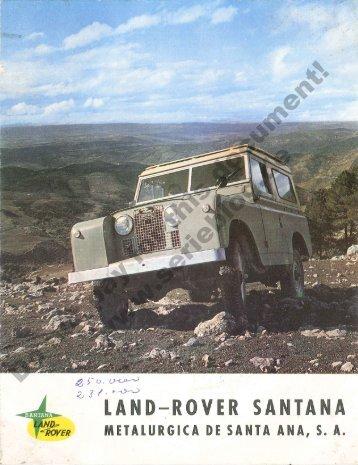 Catalogo Land Rover Santana Serie 2a