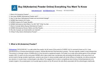 Buy S4 (Andarine) Powder Online - Everything You Want To Know