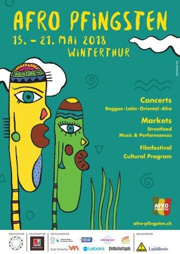 Programmzeitung Afro-Pfingsten 2018