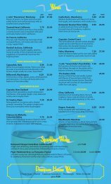 Wines Premium House Wines Sparkling Wines - Sea Critters Cafe