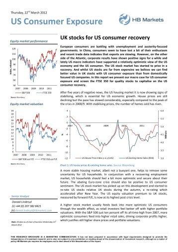 US Consumer Exposure - HB Markets