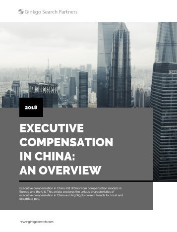 Executive Compensation in China