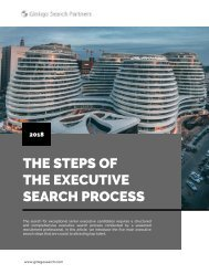 The Steps of the Executive Search Process