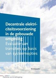 Decentrale elektriciteitsvoorziening in de gebouwde omgeving - RIVM