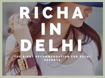 THE RIGHT RECOMMENDATION FOR DELHI ESCORTS