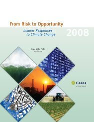 From Risk to Opportunity 2008 - Insurance in a Climate of Change ...
