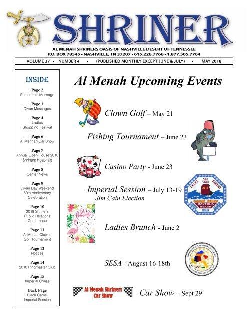 SHRINER MAY 2018