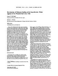 Reevaluation of Holocene faulting at the Kaysville site, Weber ...