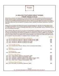 il mulino feAtures greAt wines from Angelo gAjA - Orlando ...