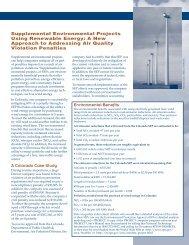 Supplemental Environmental Projects Using Renewable ... - NREL
