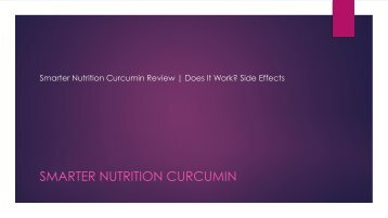 Smarter Nutrition Curcumin: Healthier Turmeric Diet|