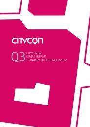 citycon oyj interim report 1 january–30 september 2012
