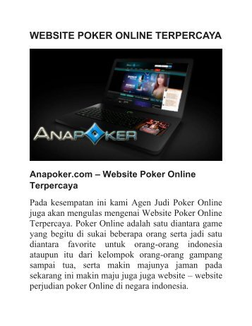 WEBSITE POKER ONLINE TERPERCAYA