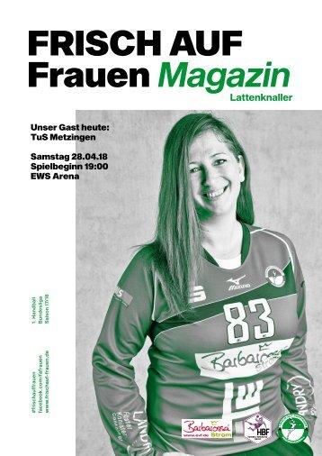 """Ausgabe 12 - Saison 2017/2018 - FRISCH AUF Frauen Magazin """"LATTENKNALLER"""""""