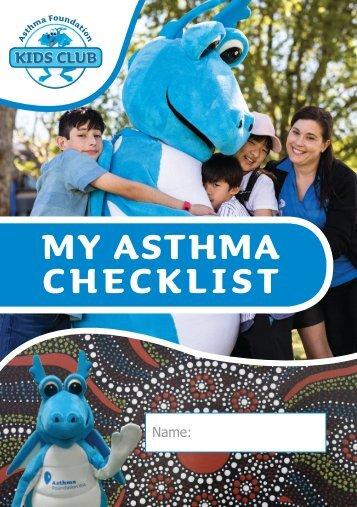 My Asthma Checklist - MMA - symptom diary