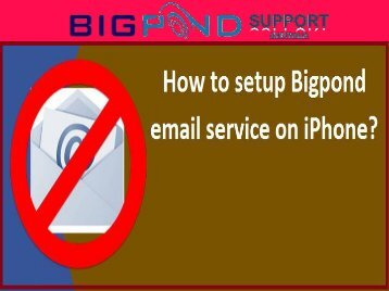 How to setup Bigpond email service on iPhone