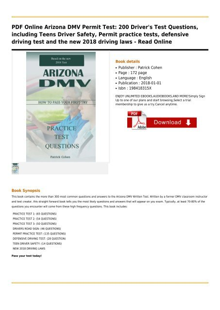 Dmv Permit Book