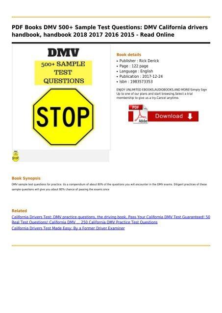 DMV-500+-Sample-Test-Questions